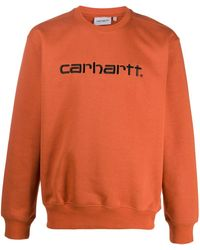 Carhartt WIP ロゴ セーター - オレンジ