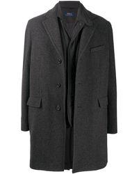 Polo Ralph Lauren Многослойное Пальто Melton - Серый