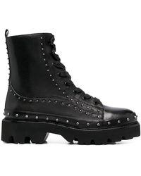 Pinko Ботинки В Стиле Милитари С Заклепками - Черный