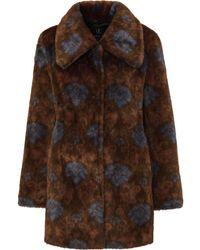 Unreal Fur Шуба Из Искусственного Меха С Принтом Пейсли - Коричневый