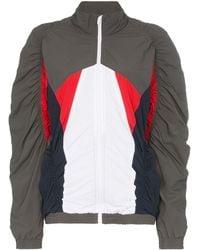 Martine Rose Ruched Colour Block Jacket - Grey