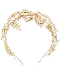 Rosantica Serre-tête à ornements métallisés - Blanc
