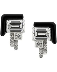 V Jewellery - Elodie Stud Earrings - Lyst