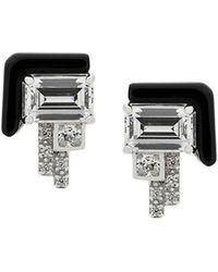V Jewellery - Elodie Stud Earrings - Lyst