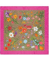 Gucci Платок С Принтом GG Flora - Многоцветный