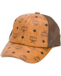 MCM Cappello con monogramma - Marrone