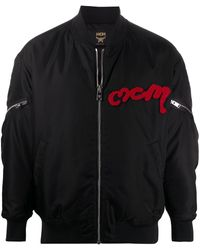 MCM ロゴパッチ ボンバージャケット - ブラック