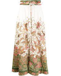 Zimmermann - Floral-print Maxi Skirt - Lyst