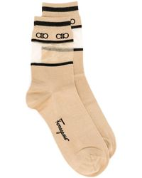 Ferragamo Logo Socks - Brown
