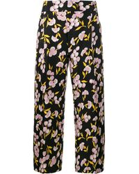 Marni - Floral Print Trousers - Lyst