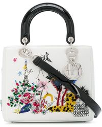 Dior Bolso Lady Dior 2way mediano - Blanco