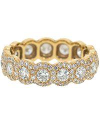 Inbar 18kt Rose Gold Diamond Eternity Ring - Metallic