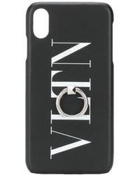 Valentino Garavani Vltn Iphone X Hoesje - Zwart