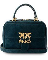 Pinko ロゴプレート ハンドバッグ - ブラック