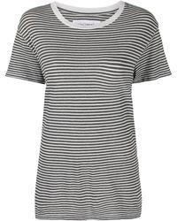 Nili Lotan Brady ストライプ Tシャツ - グレー