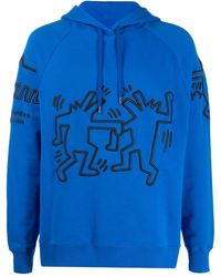 Etudes Studio Racing Keith Haring パーカー - ブルー