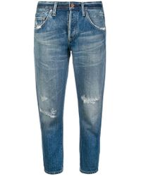 Citizens of Humanity - Cropped-Jeans in Distressed-Optik - Lyst