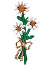 Oscar de la Renta Spilla con decorazione - Metallizzato