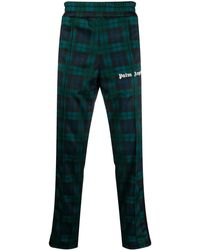 Palm Angels Tartan-print Track Trousers - Green