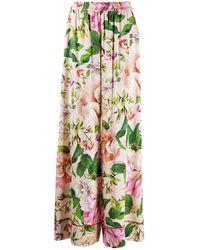 Dolce & Gabbana フローラル ワイドパンツ - ピンク