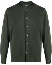 Dell'Oglio マンダリンカラー シャツ - グリーン