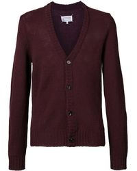 Maison Margiela Knitted Cardigan - Red