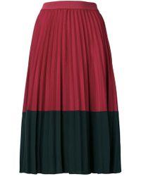 Pinko - Colour Block Pleated Skirt - Lyst