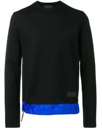 Prada Gebreide Sweater Met Contrasterende Zoom - Zwart