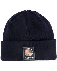 Raeburn Шапка Бини В Рубчик С Нашивкой-логотипом - Синий