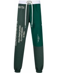 Lacoste Pantaloni sportivi con ricamo - Verde