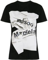 Maison Margiela Футболка С Логотипом - Черный