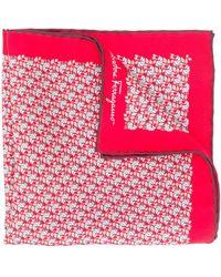 Ferragamo Платок С Геометричным Принтом - Красный