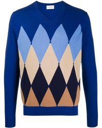 Ballantyne アーガイル セーター - ブルー