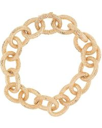 Carolina Bucci 18kt Yellow Gold Florentine Finish Links Bracelet - Metallic