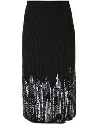 Jonathan Simkhai スパンコール ラップスカート - ブラック