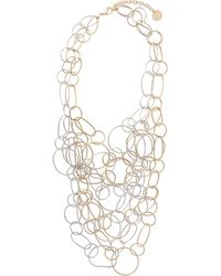 Silvia Gnecchi - Double Multiple Ring Necklace - Lyst