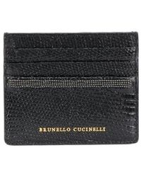 Brunello Cucinelli Ball-chain Detail Cardholder - Black