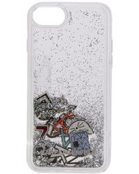 Karl Lagerfeld - Liquid Glitter Case Iphone 8 Case - Lyst