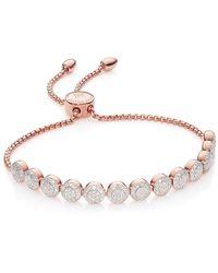 Monica Vinader Rp Fiji Mini Button Chain Bracelet - Розовый