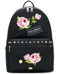 Dolce & Gabbana | Floral Applique Backpack | Lyst