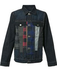 Mostly Heard Rarely Seen - Checked Detailing Denim Jacket - Lyst