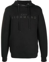 John Richmond ロゴ パーカー - ブラック