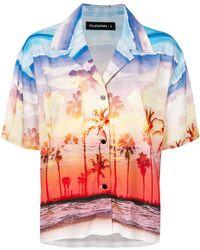 Filles A Papa Camisa Kenny con estampado de puesta de sol - Multicolor
