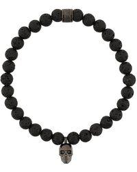 Northskull Atticus Skull Charm Bracelet - Metallic