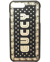 Gucci Guccy Iphone 8 Plus Hoesje - Zwart