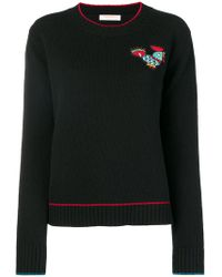 LaDoubleJ - Badge Detail Sweater - Lyst