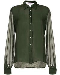 Carolina Herrera Loose Fit Silk Shirt - Green