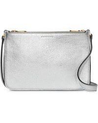 c73e700b7c7 Burberry - Triple Zip Metallic Leather Crossbody Bag - Lyst