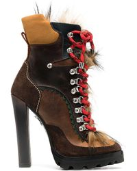 DSquared² Shearling Hiking-style Boots - Multicolour