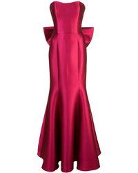 Marchesa notte - ストラップレス ドレス - Lyst